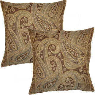 Tarawood Aqua 17-inch Throw Pillows (Set of 2)
