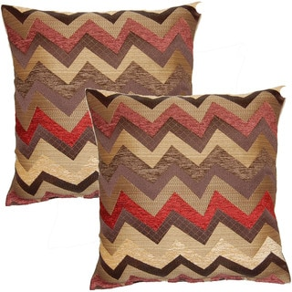 Traffic Burgundy 17-in Throw Pillows (Set of 2)