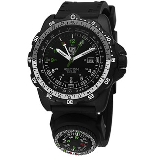 Luminox Men's A,8832.MI 'Recon Land' Black Dial Black Rubber