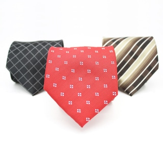 Ferrecci Neck Tie and Handkerchief Pair (Set of 3 pairs)
