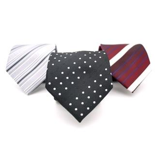Ferrecci Neck Tie and Handkerchief Pair (Set of 3 pairs)