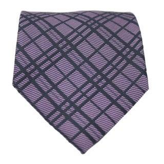 Ferrecci Slim Purple Classic Gentlemans Necktie with Matching Handkerchief - Tie Set