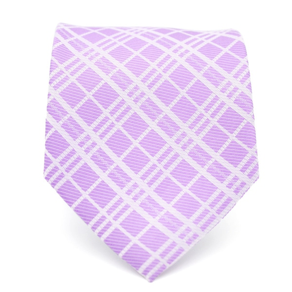 Ferrecci Slim Purple Gentlemans Necktie with Matching Handkerchief - Tie Set