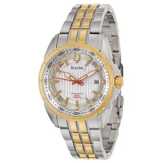 Bulova Men's 98B169 'Precisionist Campton' Stainless Steel Yellow Gold-Plated Japanese Quartz Watch