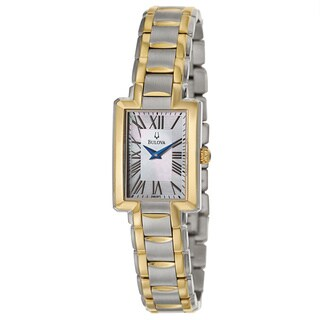 Bulova Women's 'Fairlawn' Two-Tone Stainless Steel Japanese Quartz Watch