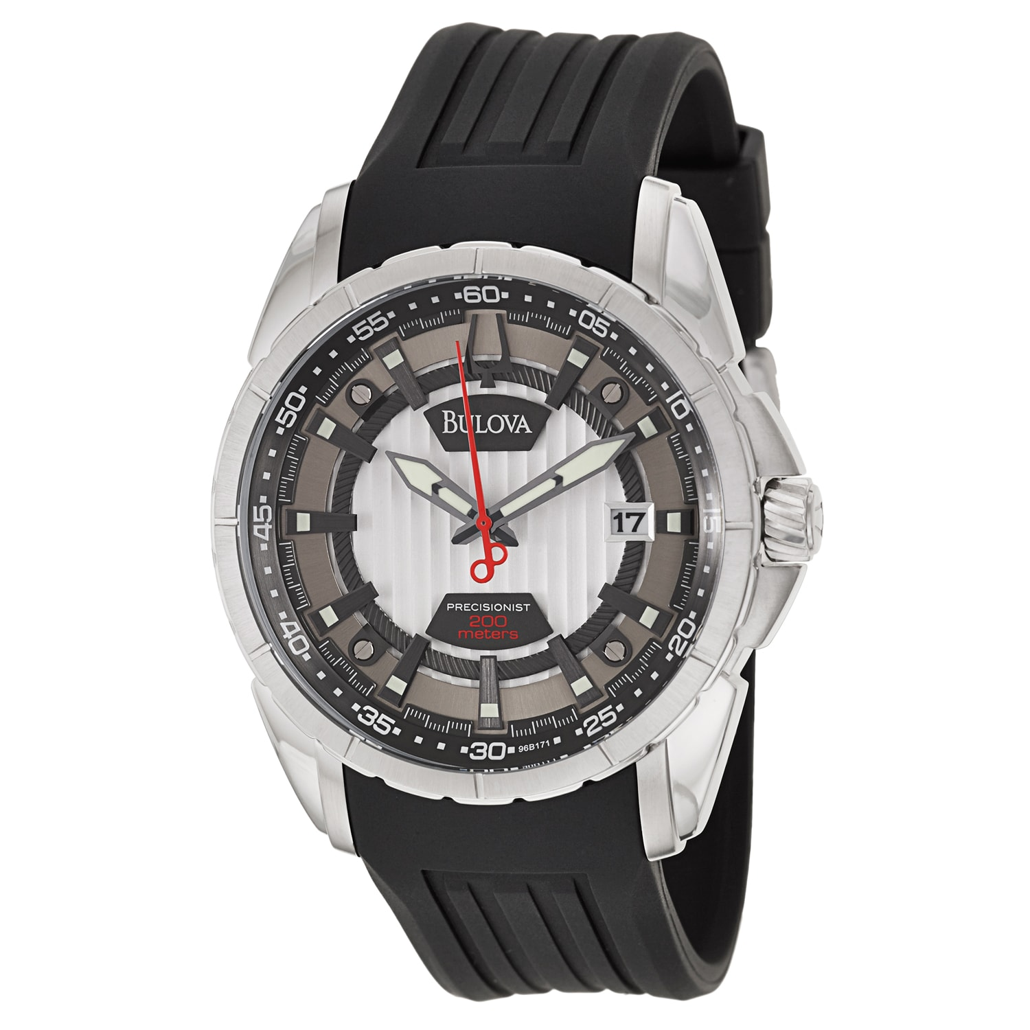 Bulova Men's 'Precisionist Campton' Stainless Steel Japanese Quartz Watch