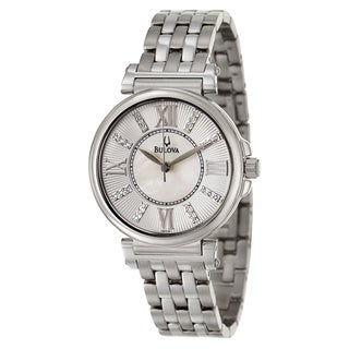 Bulova Women's 'Diamonds' Stainless Steel Japanese Quartz Watch