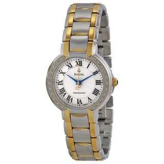Bulova Women's 'Precisionist Fairlawn' Stainless Steel Yellow Gold-Plated Japanese Quartz Watch