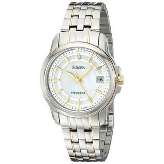Bulova Women's 'Precisionist Langford' Yellow Gold-Plated Stainless Steel Watch