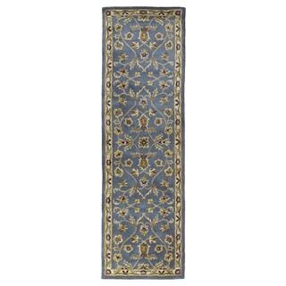 Hand-tufted Royal Taj Blue Wool Runner Rug (2'3 x 7'9)