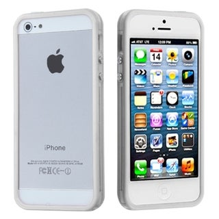 BasAcc Solid White/ T-Clear MyBumper Case for Apple iPhone 5/ 5S