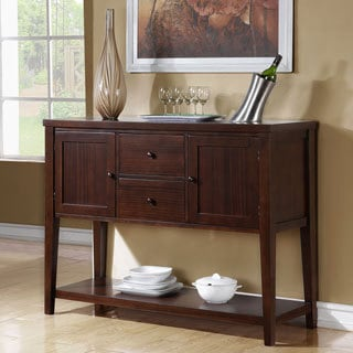Birch Veneer Dark Espresso 52-inch Server