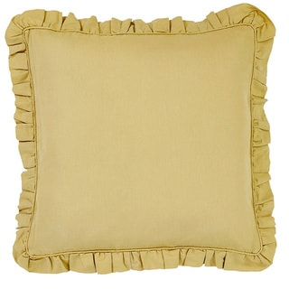 Brookfield Linen Mustard 100-percent Cotton Euro Sham