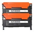 Samsung CLT-K406S Compatible Black Laser Toner Cartridges (Pack of 2)