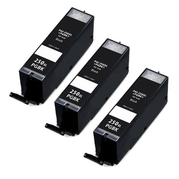 Canon PGI-250XL (6432B001) High-Yield Pigment Black Ink Cartridges (Pack of 3)