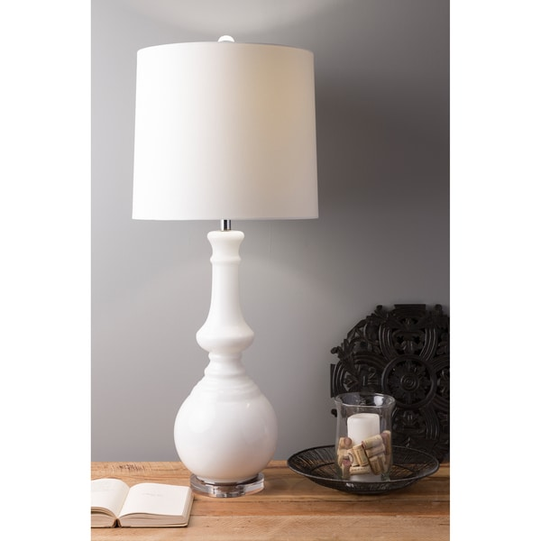 Fabulously Fresh 1-light White Table Lamp