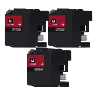 Brother LC107 Magenta Compatible Ink Cartridge (Remanufactured) (Pack of 3)
