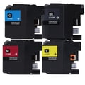 Brother LC107 Black, Cyan, Yellow, Magenta Compatible Ink Cartridge (Remanufactured) (Pack of 4)