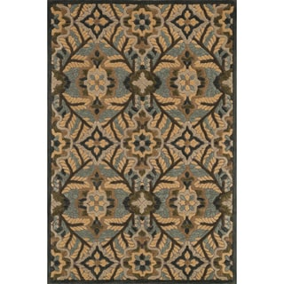 Hand-tufted Edison Brown Wool Rug (7'10 x 11'0)