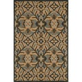 Hand-tufted Edison Brown Wool Rug (2'3 x 3'9)