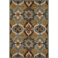 Hand-tufted Edison Blue Wool Rug (7'10 x 11'0)