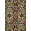 Hand-tufted Edison Blue Wool Rug (5'0 x 7'6)