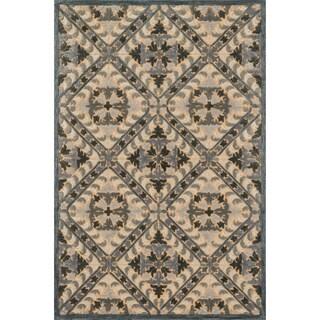 Hand-tufted Edison Smoke Wool Rug (7'10 x 11'0)