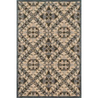 Hand-tufted Edison Smoke Wool Rug (7'10 x 11'0)