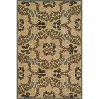 Hand-tufted Edison Sage Wool Rug (7'10 x 11'0)