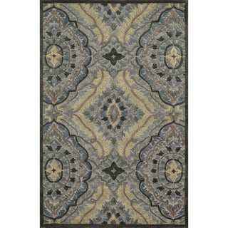 Hand-tufted Edison Grey/ Multi Wool Rug (5'0 x 7'6)