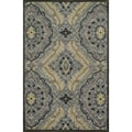 Hand-tufted Edison Grey/ Multi Wool Rug (7'10 x 11'0)