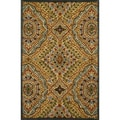 Hand-tufted Edison Rust Wool Rug (5'0 x7'6)