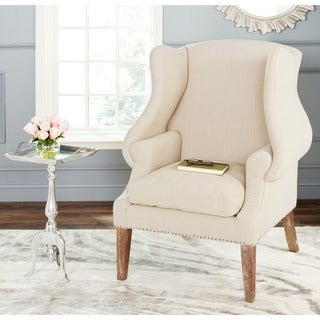 Safavieh Kameron Taupe Wing Back Chair