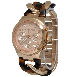 Michael Kors Women's MK4269 Tortoise Acetate and Rose Gold-Tone Watch