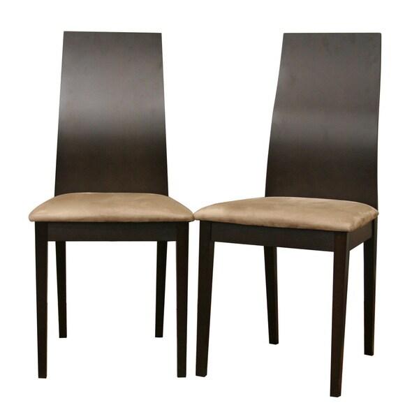 Baxton Studio Calhoun Dark Brown Modern Dining Chair (Set
