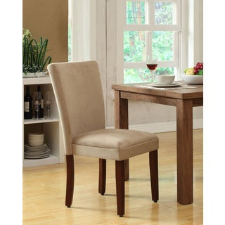Parsons Tan/ Mocha Velvet Dining Chair (Set of 2)