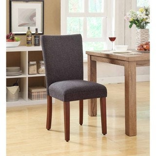 Parsons Heather Charcoal/ Black Dining Chairs (Set of 2)