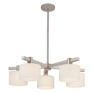 Sonneman Lighting Milano 5-light Satin Nickel Pendant