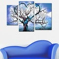 Abstract Tree Hand-painted 3-piece Painting