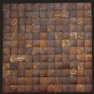 Square Coffee Brown Convex Coconut Wall Tile