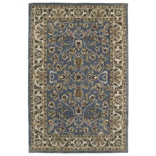 Royal Taj Blue Hand-Tufted Wool Rug (3'6 x 5'3)