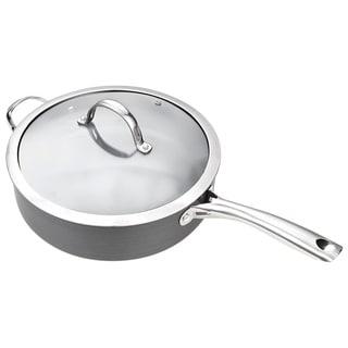 Cooks Standard Hard Anodize Premium Grade Nonstick 5-quart Covered Deep Straight Saute Pan