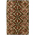 Hand-tufted Royal Taj Raspberry Wool Rug (3'6 x 5'3)