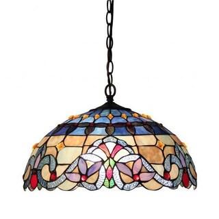 Tiffany Style Victorian 2-light Pendant