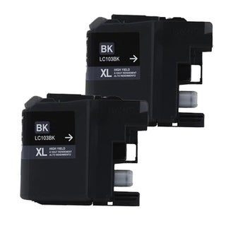 Brother LC103 Black Compatible Ink Cartridge (Remanufactured) (Pack of 2)