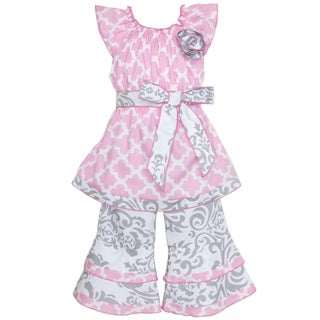 Cute Clothes Online Made In Us AnnLoren Girl s Pink amp Grey