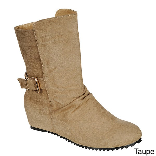 Radiant Women's 'Respect' Concealed Wedge Mid-calf Boots