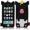 INSTEN Blue Cute Pig 3D Rubber Soft Silicone Soft Skin Gel Phone Case Cover for Apple iPhone 5C