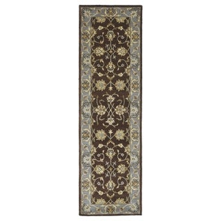 Royal Taj Brown Hand-tufted Wool Rug (2'3 x 7'9)