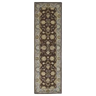 Royal Taj Brown Hand-tufted Wool Rug (2'3 x 7'9)